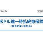 【外貨建(一時払)】ソニー生命「米ドル建一時払終身」5つの特徴と注意点